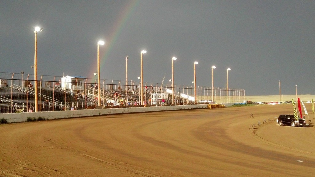 Rainbow Over BMP Speedway August 5 2013
